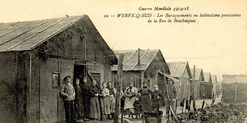 Les baraquements ou habitations provisoires de la rue de Bousbecques