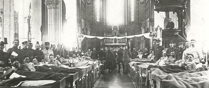 Église de wervicq tranforme en hôpital
