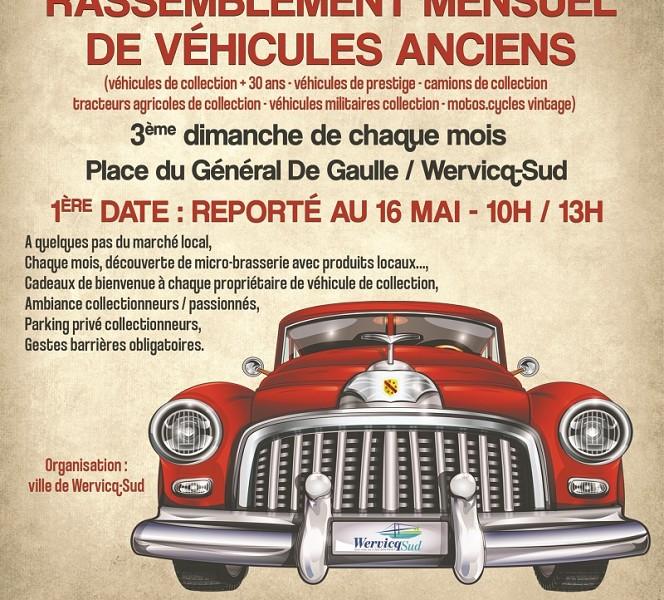 Rassemblement mensuel de véhicules anciens