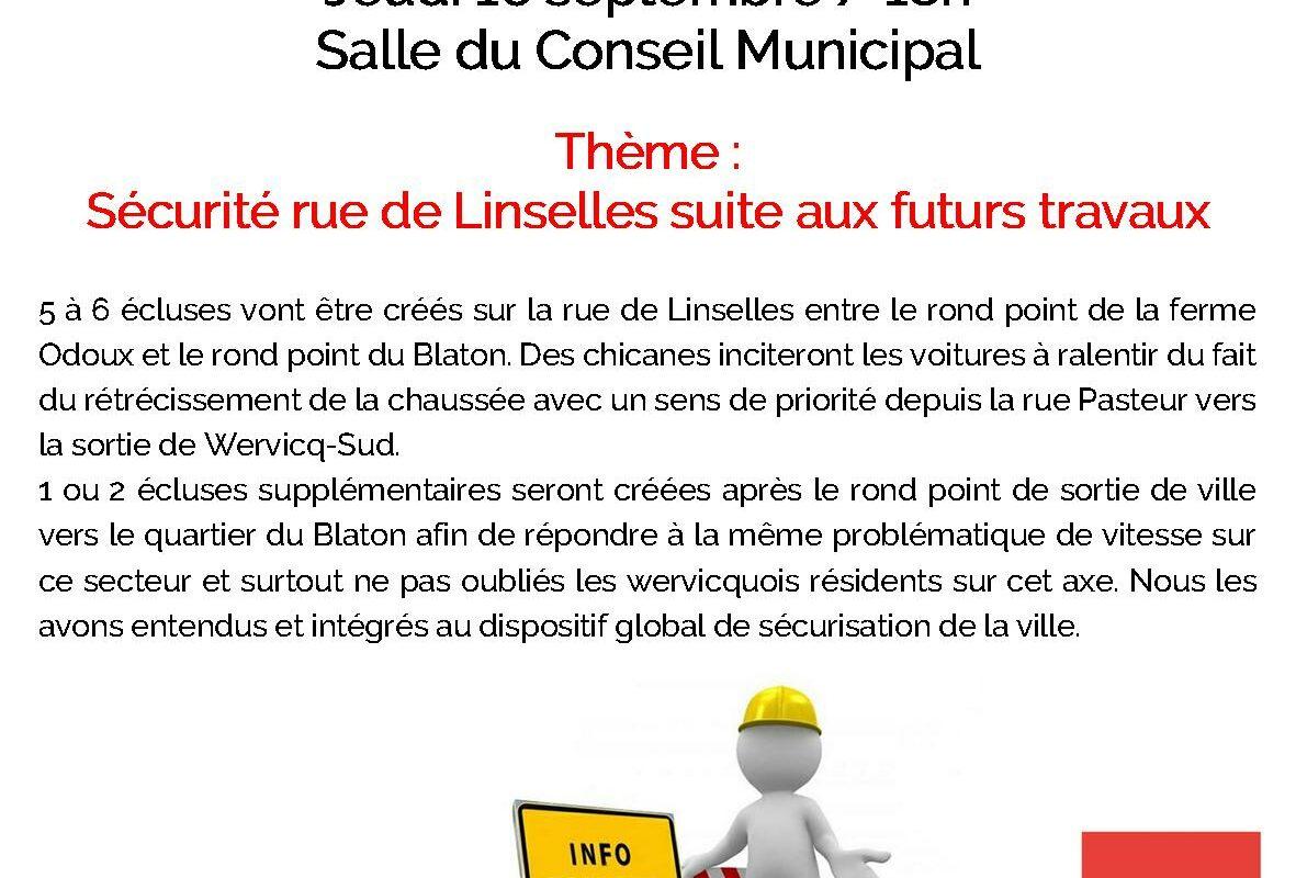 Réunion publique – Sécurité rue de Linselles